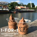 1 for 1 Limited Edition Chocolate Soft Serve at TSUJIRI (Facebook/Instagram Required, The Central at Clarke Quay)