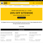 Online Hari Raya Sale 20% off Sitewide on all Regular Priced Items @BoardingGate