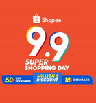 $5/$9/$15/$20/$30/$90 off ($65/$150/$250/$280/$500/$1500 Min Spend) Sitewide at Shopee