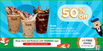 50% off All 7Café Iced Coffee (from $1.10) at 7-Eleven