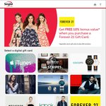 10% Bonus Value on Forever 21 Gift Cards Purchased at Singtel Gifts