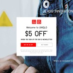 $5 off at UNIQLO Online (Minimum $60 Spend)