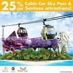 25% off Sentosa Cable Car, Merlion, Wings of Time with OBike Ride in Same Month