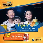 Enjoy 1-for-1 Movie Tickets at Cathay Cineplexes on Saturday and Sundays Using HomeTeamNS Membership Card