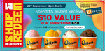 Udders Ice Cream $10 Cash Voucher for $5 after Spending $20 via Qoo10 (29th September)