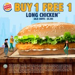 1 for 1 Long Chicken ($5.30) at Burger King
