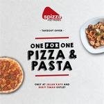 1 for 1 Pizzas & Pasta at Spizza (Jalan Kayu & Bukit Timah)