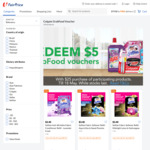 Spend $25 on Any of The Participating Brands and REDEEM $5 GrabFood Voucher in FairPrice Online Store