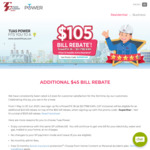 30% Saving on Your Electric Bill to $105 Bill Rebate and Free 12 Months Aviva Insurance When You Sign up with Tuas Power