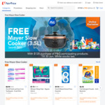 Free Mayer Slow Cooker 3.5L (Worth $89) with $128 Min Spend on Participating P&G Products at FairPrice On