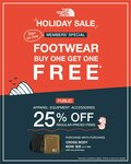 Buy a Pair of Footwear and Get The 2nd Pair Free at North Face