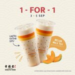 1 for 1 Melon Milk Tea at Xing Fu Tang (Facebook Required)