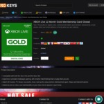 XBOX Live 12 Month Gold Membership Card Global $42.97 (28% off) @Nokeys.com