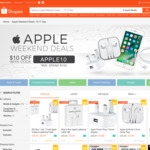 $10 off Items in the Apple Weekend Deals Collection at Shopee ($100 Minimum Spend)