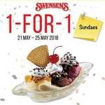 1 for 1 Sundaes at Swensen's via App (Monday 21st to Friday 25th May)