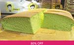 One pc Original, Pandan, Cheese, or Chocolate Castella Cake $5 (U.P. $10) @ Boss Bake via Fave