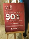 50% off Regular Priced Items (Min 2 Items) at Timberland [IMM, Jurong East Street]