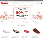 Bata Online Clearance - 50% Off Everything Shoes from $1.97 + $5 Shipping or Free Shipping Above $50