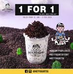 1 for 1 Yogurt Drinks at Hey Yogurt (Facebook/Instagram Required)