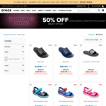 50% off Selected Styles at Crocs