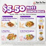$5.50 Lunch Dishes at Pope Jai Thai (Weekdays, 11am to 4pm)