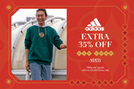 35% off adidas ($59 Min Spend, Selected Items) at Zalora