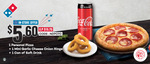 Personal Pizza, Mini Rings & Can of Drink for $5.60 at Domino's