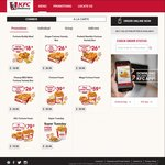 10pcs Chicken and 2 Medium Whipped Potato for $19.90 at KFC Delivery