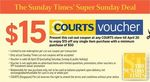 $15 off Any Single Item Purchase at Courts (Min Spend $50)