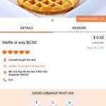 Waffle for $0.50 (U.P. $3.90) at Scoopz via Lobang King Club App