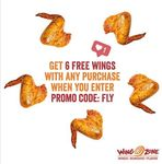 6 Free Wings with Any Purchase at Wing Zone (Online)