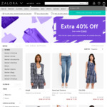 40% off Selected Items with Code @ Zalora