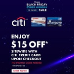 $15 off ($100 Minimum Spend) Sitewide at Shopee [Citibank Cards]