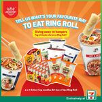 Win 1 of 30 Ring Roll Hampers from 7-Eleven