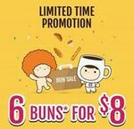 6 Selected Buns for $8 at Breadtalk