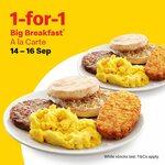 1 for 1 Big Breakfast (A La Carte) at McDonald's [via App]