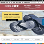30% off Sitewide Plus Free Shipping (No Min Spend) at Crocs