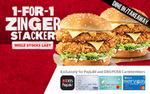 1 for 1 Zinger Stacker Burger at KFC [DBS/POSB Payments]