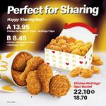 12pc McNuggets & 8pc McWings for $13.95, 6pc McNuggets & 4pc McWings for $8.45 at McDonald's