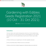 Free Leafy Vegetable Seed Pack Delivered from Nparks