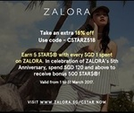 18% off at Zalora with Code for Whole March Plus Earn Capitaland Star Points ($120 Minimum Spend)