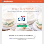 25% off for New Customers at foodpanda (Citibank Cards)