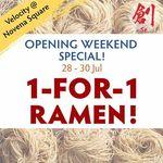 1 for 1 Any Ramen at Sō Ramen Velocity @ Novena Square 28-30 July