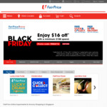 $16 off at FairPrice ($150 Minimum Spend) - Black Friday Offer