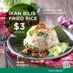 Ikan Bilis Fried Rice for $3. (U.P. $3.20) at 7-Eleven