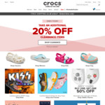 Extra 20% off Clearance Items Plus Free Shipping Sitewide (No Min Spend) at Crocs