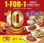 1-for-1 Single Combo Meal (Every 10th of the Month) at The Chicken Rice Shop Singapore