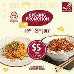 Mapo Don/Dan Dan Mien for $5 (U.P. $11.80) at Chen's Mapo Tofu [NEX]
