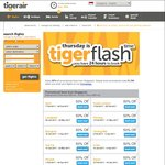 TigerAir - 50% Off Fares from Singapore