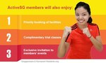 ActiveSG - Free Membership with $100 Credit to Use for Swimming Pool/Gym Admission, Renting Sporting Fields/Courts + More